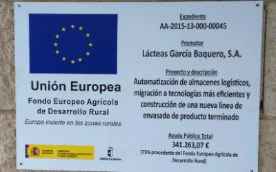 Proyecto «Europa invierte en las zonas rurales» del Fondo Europeo Agrícola de Desarrollo Rural y la Unión Europea
